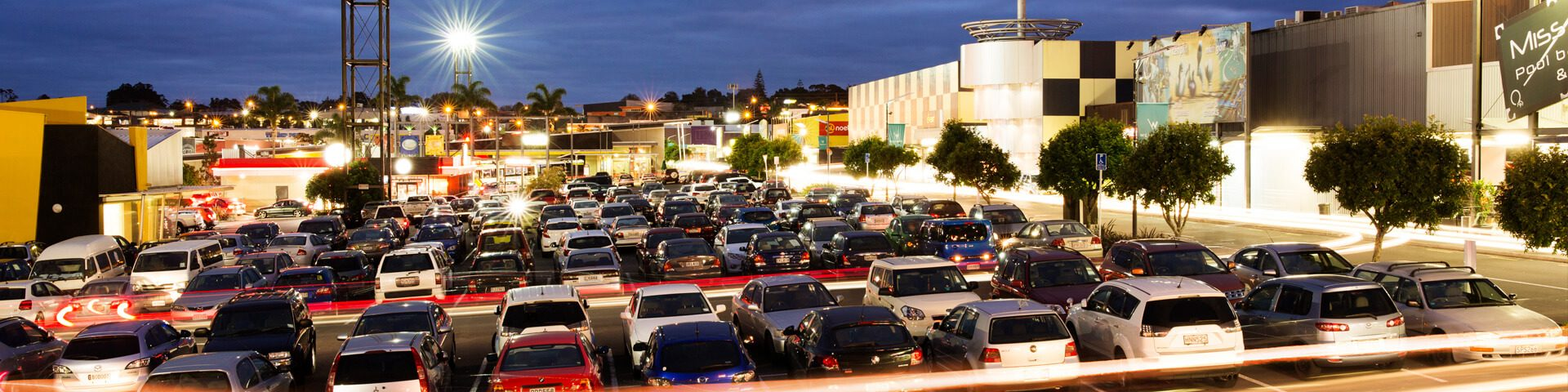 Westgate carpark at night